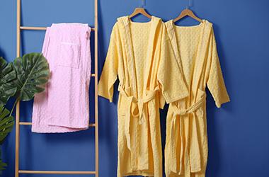 太阳花浴袍