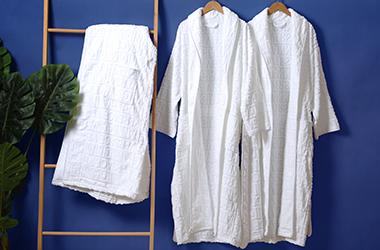 毛圈提花浴袍