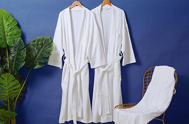 针织华夫格浴袍
