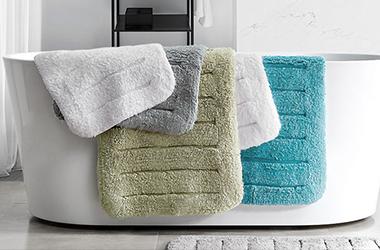 酒店长毛地垫全棉加厚地巾吸水防滑垫洗手间进门垫子